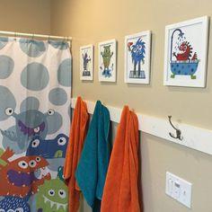 Cute artwork for the boys bathroom.