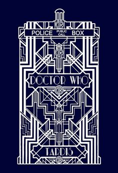 Tardis Doctor Who Dr. Who Art Deco Art Nouveau Vintage Custom Tshirt T-shirt Men Ladies Unisex Tee Shirt Present Gift Kids