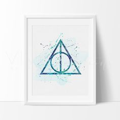 Harry Potter Deathly Hallows Nursery Art Print Wall Decor