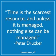 How are you managing your time this week?