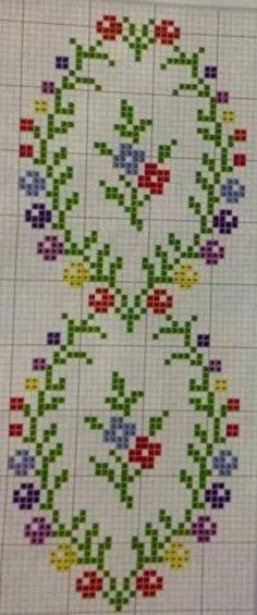 Mini Cross Stitch, Cross Stitch Borders, Cross Stitch Flowers, Modern Cross Stitch, Cross Stitch Designs, Cross Stitching, Cross Stitch Embroidery, Ribbon Embroidery, Cross Stitch Patterns
