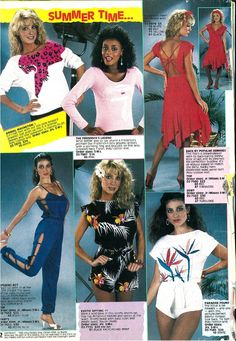 VERSATILE STYLE SELECTIONS FROM FREDERICKS OF HOLLYWOOD IN THE EARLY 80S--EACH ONE COULD EASILY BE WORN TODAY!! (BE SURE TO WEAR  DARK TAN SUPPORT STOCKINGS FOR THE PERFECT COMPLIMENT TO THESE STUNNERS!)