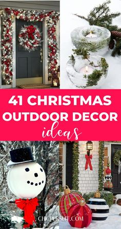 41 Amazing Outdoor Christmas Decorations You Need To Try | Are you looking for inspiration on the best yard decorations and Christmas outdoor decor? Here you'll find the best modern Christmas outdoor decorations for the porch, outdoor Farmhouse decor, Christmas lights for outdoors, Christmas decorations for windows and other homemade Christmas decor ideas that you can do on a budget #christmasdecor #outdoors #christmasoutdoordecor #porch #yard #christmas #outdoorchristmasdecorations #diy