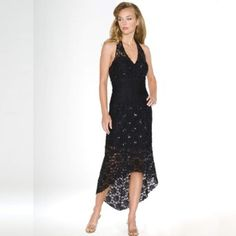 Black Evening Gown. Prom Dress. Womens Long Evening Gown. Beaded Dress by Sean Collection (8737) BLACK