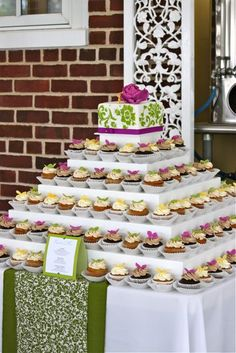 Emily and Andrew's Cupcake Tower by The Couture Cakery, via Flickr