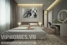 #VIPHOMES INTERIOR THIẾT KẾ THI CÔNG - NỘI THẤTCĂN HỘ CHỊ HOA - PHÒNG NGỦ