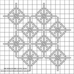 Framed Double Straight Cross variation