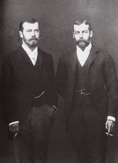 """""Nicky and Georgie"" aka future Emperor Nicholas II of Russia and King George V of the United Kingdom. """