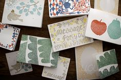 """+UGUiSU Blog: """"Kita no moyo cho"""" Letterpress Cards."""