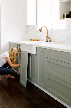 DIY IKEA hack | add Semihandmade Kitchen Cabinets door to any IKEA kitchen cabinet, Besta cabinet & others for a custom look for less