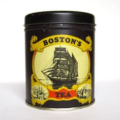 images of ships tin can   Vintage Tin Can clipper ship Boston's Tea tin by ...