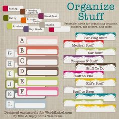 10 Free Printable Organizers - Beneath My Heart