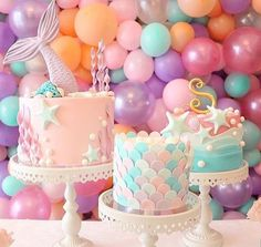 This Mermaid Theme Party Ideas got me all inspired already! If you are looking at a theme for your little girl birthday - THIS IS IT Mermaid Birthday Cakes, Mermaid Cakes, Mermaid Themed Party, Mermaid Party Food, Mermaid Party Decorations, Cool Birthday Cakes, Birthday Cupcakes, First Birthday Parties, Girl Birthday