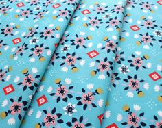 birch fabrics Wildland MI-08-Blue Flowerbed Blue