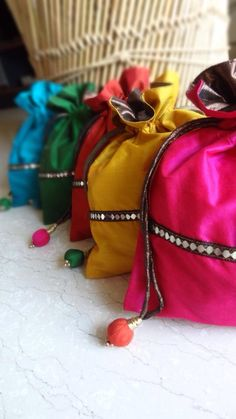Colorful satin batwas for any Indian occasion