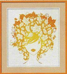 Autumn floral lady
