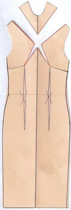 """Tutorial: """"Use Darts to Create Sheath Dress"""".( Dart manipulation tips.: """"So if you have a good sheath dress pattern (vintage or new one) you can change the bust dart placement and have a new dress with the same good fit. Sewing Hacks, Sewing Tutorials, Sewing Crafts, Sewing Projects, Sewing Patterns, Sewing Tips, Shirt Patterns, Pattern Drafting Tutorials, Clothes Patterns"""