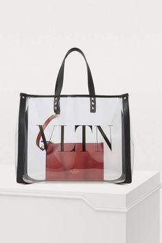 Buy Valentino Transparent tote bag online on 24 Sèvres. Valentino Clothing, Valentino Shoes, Valentino Rockstud, Metallic Rock, Tote Bags Online, Satchel, Crossbody Bag, Transparent Bag, How To Start Knitting
