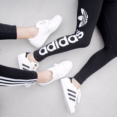 adidas, black and white