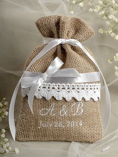 Custom listing Rustic Burlap Wedding Favor Bag , Lace Wedding Favor, County Style GIFt - amazing world of handmade gifts Burlap Wedding Favors, Wedding Favor Bags, Wedding Crafts, Burlap Weddings, Lace Wedding, Wedding Dresses, Handmade Wedding Gifts, Custom Wedding Gifts, Handmade Gifts