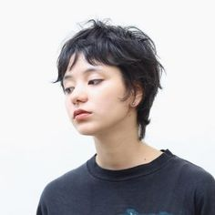 Short Shag Haircuts, Cute Hairstyles For Short Hair, Pretty Hairstyles, Curly Hair Styles, Short Punk Hair, Short Hair Cuts, Hair Inspo, Hair Inspiration, Mullet Hairstyle