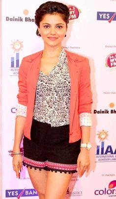 Television actress Rubina Dilaik at International Indian Achievers awards. #Style #Bollywood #Fashion #Beauty