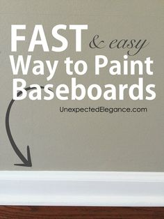 Do you dread the tedious project of touching up your baseboards? Find out a fast and EASY way to paint baseboards, that will make you wonder why you waited!
