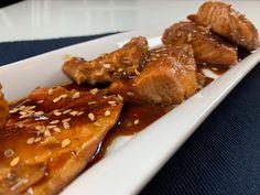 SALMONE IN SALSA TERIYAKY Video, Chicken Wings, Meat, Food, Meals, Yemek, Eten, Buffalo Wings