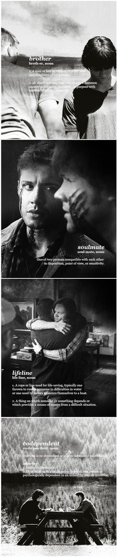 Supernatural ~ Dean and Sam Winchester - Brothers, Soulmate, Lifeline, Codependent