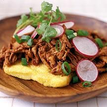 This traditional Mexican-inspired dish is deliciously different. We love the use of polenta in place of tortillas. #recipe #WWLoves
