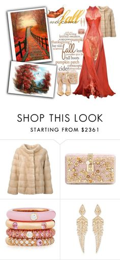 """Welcome fall"" by sarahguo ❤ liked on Polyvore featuring Liska, Dolce&Gabbana, Adolfo Courrier, Stephen Webster and Gianvito Rossi"