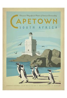 The Travel Tester vintage travel poster collection. It's time to get nostalgic with this week's retro destination: Vintage Travel Posters South Africa Old Poster, Retro Poster, Vintage Advertisements, Vintage Ads, Vintage Prints, Posters Decor, Art Posters, Afrique Art, Le Cap