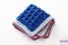 Summer Kitchen Series, free dishcloth pattern, http://www.sewrella.com/2016/06/bettys-bumpy-scrubby-dishcloth-summer.html