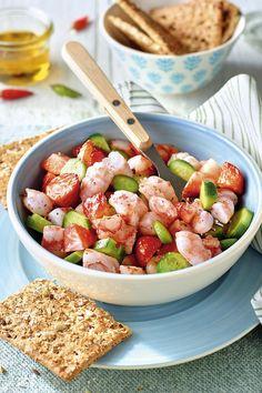 Diccionario de recetas - Vein Tutorial and Ideas Healthy Salads, Healthy Recipes, Canapes, Pasta Salad, Salad Recipes, Tapas, Good Food, Menu, Lunch