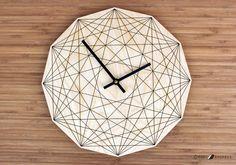 BOIS « Œil de Dieu » mural horloge - Housewares abstraite moderne Unique Art géométrique
