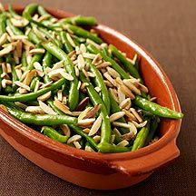 Sauteed String Beans with Almonds  2 P+ WW