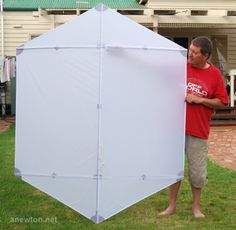 Simple Kite Instructions | Rokkaku kite is very simple being basically a flat hexagon with ..