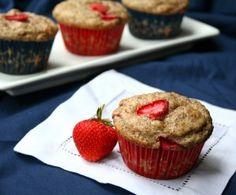Strawberry Flax Muffins