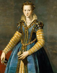MARIA DE MEDICI (1540-1557) Daughter of Cosimo I de' Medici and Eleonora of Toledo. She was engaged to Alfonso II, Duke of Ferrara, but died before the wedding could take place.
