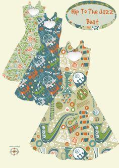 Dress mock-ups by Slumbermonkey (C) Lindsay Buck http://www.spoonflower.com/designs/2823392