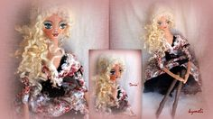'Daria' OOAk Art Doll by kymeli Soft Dolls, Balcony, Handmade, Painting, Board, Garden, Hand Made, Garten, Painting Art