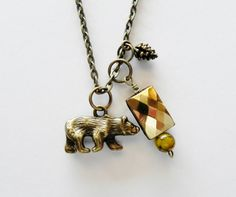 Bear Charm Necklace by HoovesHornsWingsPaws