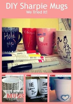 This could not be easier! Adorable Coffee Mug Gifts You Can Make With Markers (VIDEO) http://thestir.cafemom.com/home_garden/168844/adorable_coffee_mug_gifts_you?utm_medium=sm&utm_source=pinterest&utm_content=thestir&newsletter