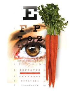 It takes more than carrots to have good eyesight. It's true that the vitamin A in carrots helps eyes function well, but vitamin A is just one important factor for good eye health.