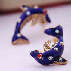 Retro Dolphin Earrings