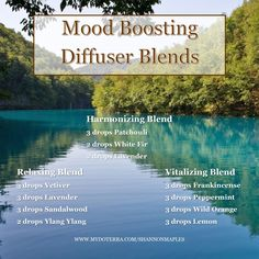 Try some of these mood boosting blends today! For more info, or to order oils at 25% off retail, join the conversation on Facebook at https://www.facebook.com/eosandmore or http://www.mydoterra.com/shannonmaples/#/