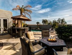 Private Outdoor Living Area with Firepit