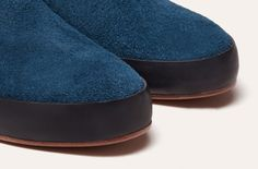 Hand Sewn Slipper Indigo - Men
