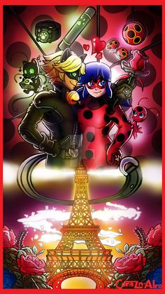 Ladybug and CatNoir {Speedpaint Link Below] by Corazon-Alro4.deviantart.com on @DeviantArt