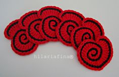 by hf Crochet Spiral Heart ❥ 4U //